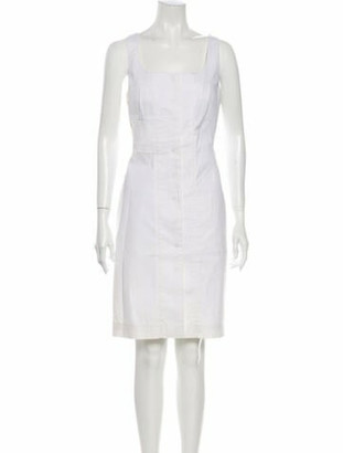 Givenchy Square Neckline Knee-Length Dress w/ Tags White
