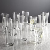 Crate & Barrel Rings Cooler Glasses, Set of 12