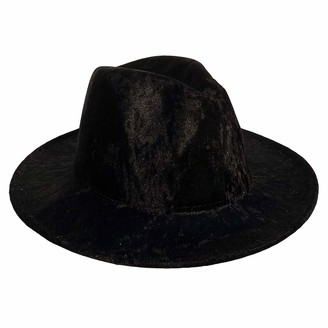 Jixin4you Vintage Fedora Hat Unisex Felt Hats Wide-Brim Panama Hat for Beach Party Performance Props and Daily Use