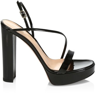 Gianvito Rossi Kimberly Platform Patent Leather Slingback Sandals