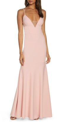 Katie May Smooth Operator V-Neck Trumpet Gown