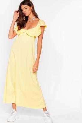 Nasty Gal Womens Frill Into You Ruffle Maxi Dress - Yellow - 6