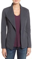 Women's Caslon Cotton Knit Open Front Blazer