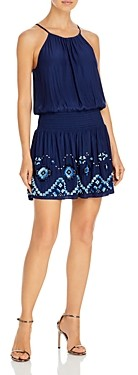 Ramy Brook Emily Embroidered Mini Dress