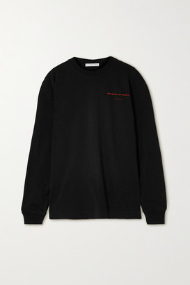 Alexander Wang Oversized Printed Cotton-jersey Sweatshirt - Black