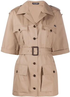 Dolce & Gabbana Belted Military Jacket