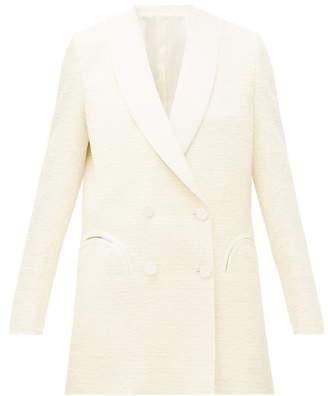 BLAZÉ MILANO Midnight Smoking Double-breasted Boucle Jacket - Womens - Ivory