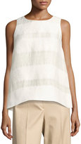 The Row Mikita Sleeveless Popover Top, Light Beige