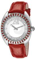 Pierre Cardin Levant Fantaisie Women's Quartz Watch with Silver Dial Analogue Display and Black Leather Strap PC106052S01