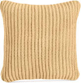 "Charter Club Damask Designs 20"" Square Sweater-Knit Decorative Pillow, Created for Macy's"
