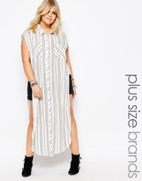 Alice & You Stripe Sleeveless Shirt Dress