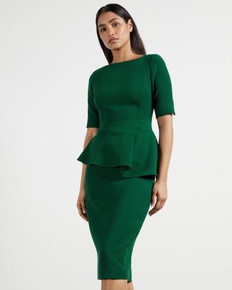 Ted Baker ROMOLAA Peplum Detail Short Sleeve Dress