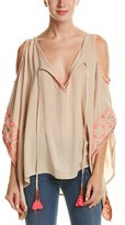 Freeway Cold-shoulder Caftan Top.