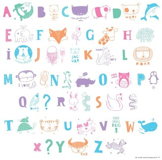 A Little Lovely Company Little Lovely Co. Light Box Letter Pack Pastel Letters & Symbols