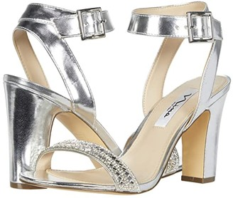 Nina Sharon (Silver Metallic Foil/Clear Vinyl) Women's Shoes