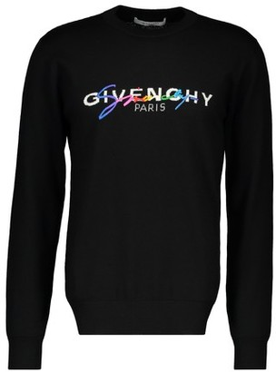 Givenchy Multicolor signature wool crew knitwear