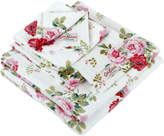 Cath Kidston Antique Rose Bouquet Towel - White - Face Cloth - 30x30cm