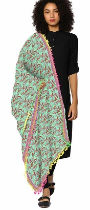 eloria Women's Floral Printed Cotton Dupatta Scarf Shawl Neck Wrap - 40 x 72 Inches