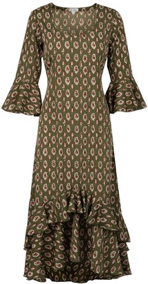 At Last... Victoria Dress- Olive Green