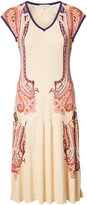 Etro printed rib accent dress - women - Silk - 2