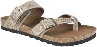 White Mountain Adjustable Leather Slip-On Sandals - Graham