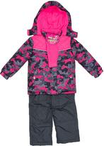 Pink Platinum Charcoal Camo Heart Better Snowsuit - Toddler & Girls