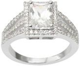 Journee Collection 2 1/4 CT. T.W. Emerald Cut CZ Basket Set Bridal Ring - Silver