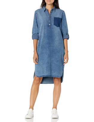 Bandolino Women's Keira Belted Dress with Shadow Pocket
