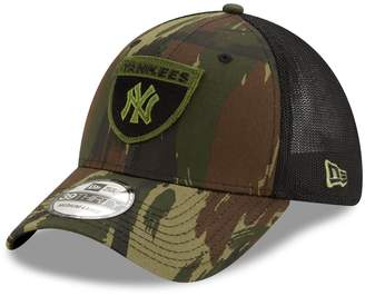 New Era Men's Camo/Black New York Yankees Camo Crest 39THIRTY Flex Hat