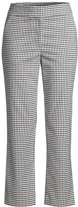 Donna Karan Gingham Kick Flare Pants