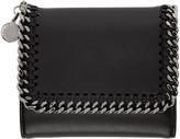 Stella McCartney Black Falabella Small Flap Wallet