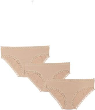 Natori Bliss 3-Pack Cotton Blend Briefs