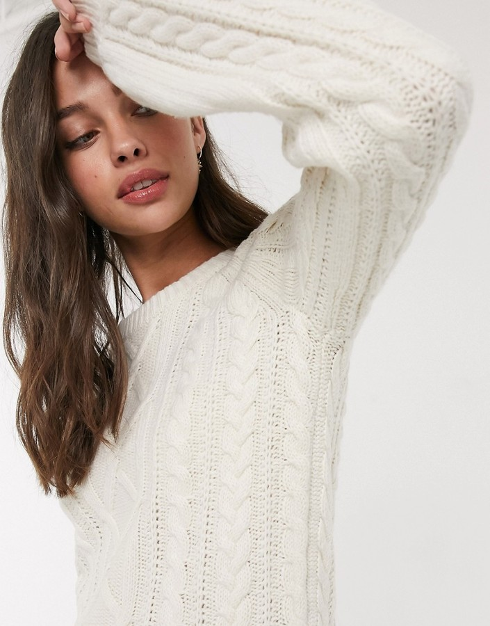 Abercrombie & Fitch high neck textured knit jumper