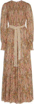 Zimmermann Printed Silk-Chiffon Maxi Dress