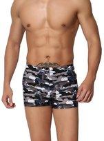 Vocni Men's Camo Solid Jammer Rapid Quick Dry Square Leg Camouflage Swimsuit Swimwear For Men