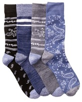Lucky Brand Bandana Socks - Pack of 4