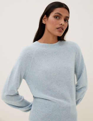 Marks and Spencer Pure Cashmere Textured Crew Neck Jumper