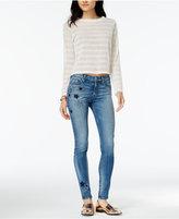 Hudson Nico Star Embellished Skinny Jeans