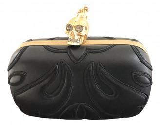 Alexander McQueen Skull Black Leather Clutch bags