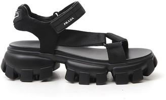 Prada Logo Strap Chunky Sole Sandals