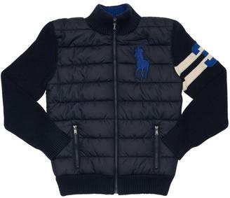 Ralph Lauren Cotton Blend Knit & Nylon Jacket