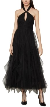 BCBGMAXAZRIA Tulle Halter-Neck Dress