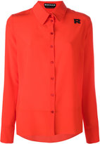 Rochas 'R' patch shirt - women - Silk - 40