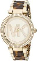 Michael Kors Parker MK6109 Women's Wrist Watches, Gold Dial