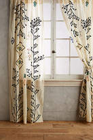 Anthropologie Embroidered Naome Curtain