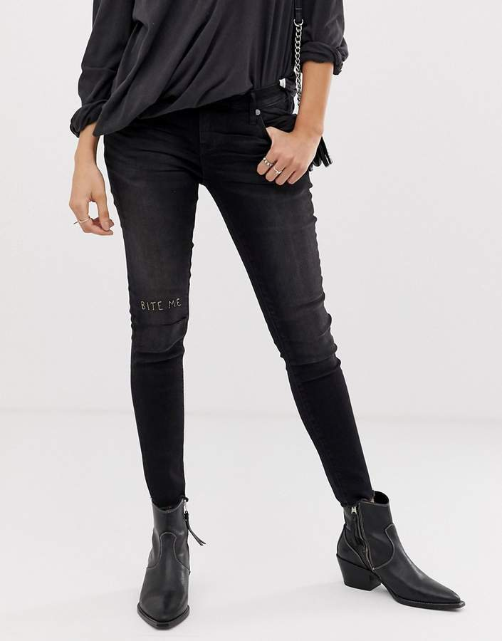 One Teaspoon Freebirds slit knee skinny jeans
