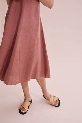 Country Road Organically Grown Linen Midi Dress