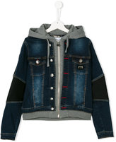 Philipp Plein Junior zipped hoodie denim jacket