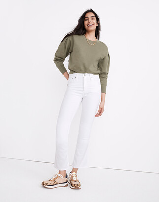 Madewell Petite Cali Demi-Boot Jeans in Pure White