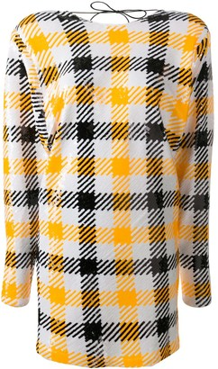 Rotate by Birger Christensen Low-Back Checked Shift Dress